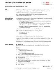 Geri Dönüşüm Talimatları için Hazırlık - Ortho Clinical Diagnostics