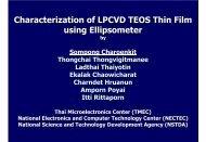 TEOS thin film deposition - Nectec