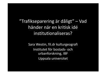 Sara Westins presentation.
