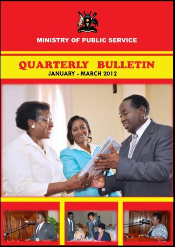 QUARTERLY BULLETIN - Ministry of Public Service