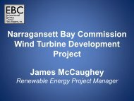 James McCaughey Narragansett Bay Commission Wind Turbine ...