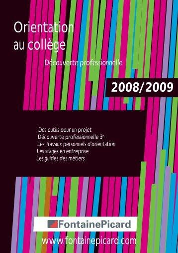 Orientation au collège - Fontainepicard