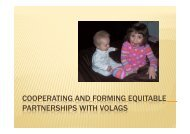 Cooperating and Forming Equitable Partnerships with VOLAGs