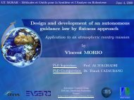 Contribution to the design of an autonomous guidance law by ... - IMS