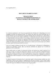 document d'orientation contrat de génération
