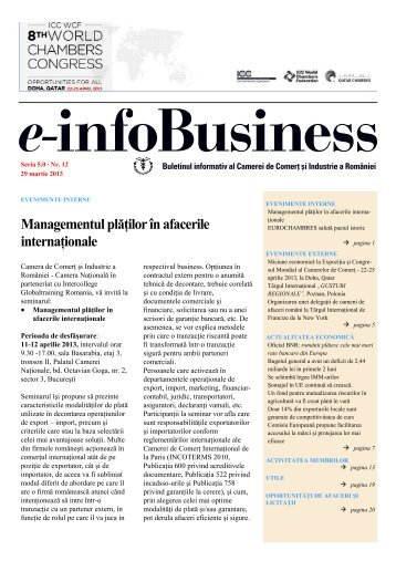 e-infoBusiness nr. 12/29.03.2013 - Camera de Comert si Industrie a ...