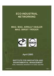 Eco-Industrial Networking - MMag. Arnulf Hasler ... - Eco World Styria