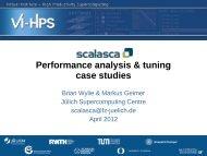 Performance analysis & tuning case studies - Prace Training Portal