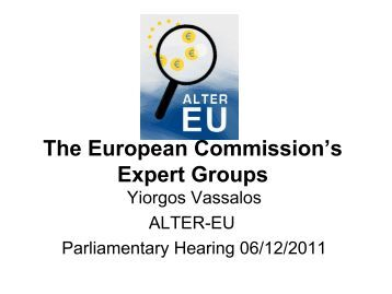 The European Commission's Expert Groups - ALTER-EU