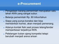 Manfaat e-Procurement - Kumoro.staff.ugm.ac.id