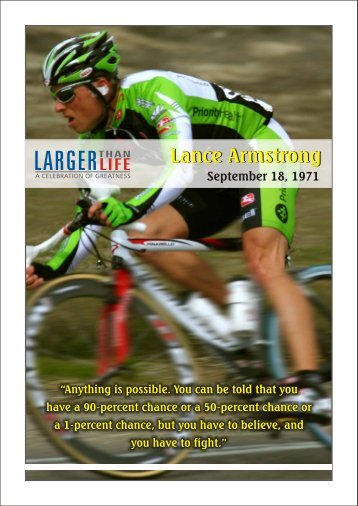 Lance Armstrong.cdr - The Fifth Veda Entrepreneurs