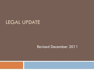 TRECMandatory Legal Update November 2011 - Texas Real Estate ...