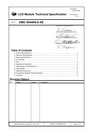 LCD Module Technical Specification DMC-50448N-E-AE