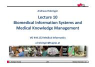 Lecture 10 Biomedical Information Systems and Medical Knowledge ...