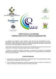 protocollo d'intesa operatori foto-video/consumatori - Camera di ...