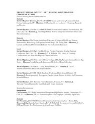 PRESENTATIONS, INVITED LECTURES AND SYMPOSIA- FREE ...