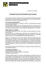 pressemitteilung programm piazza grande - Festival del film Locarno