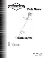 Brush Cutter Parts Manual - Briggs & Stratton