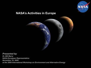NASA Cooperation with Europe