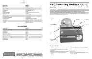 V.I.C. 9 Casting Machine Instructions - Rio Grande