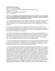 Louisiana Revised Statutes Title 9 – Civil Code-Ancillaries Book 3 ...