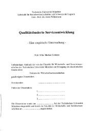Qualitätsbasierte Serviceentwicklung Empirische Untersuchung