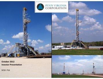 October 2012 Investor Presentation - Penn Virginia Corporation