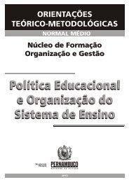 ORGANIZAÇÃO E GESTÃO - Secretaria de Educação de Pernambuco