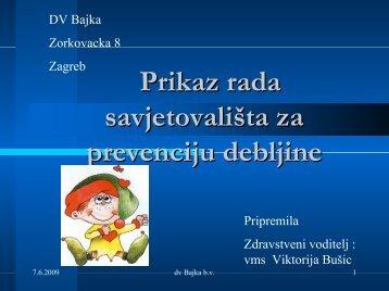 Prikaz rada savjetovališta za prevenciju debljine