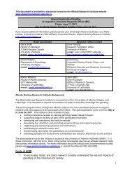 2011-12 Research Grant Guidelines & Grant Application - Alberta ...