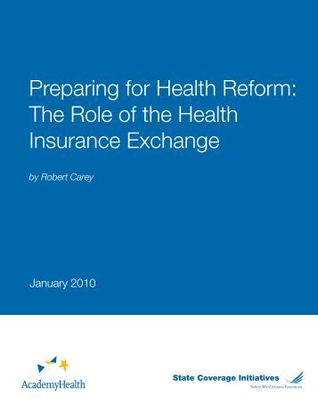The Role of the Health Insurance Exchange - State Coverage ...