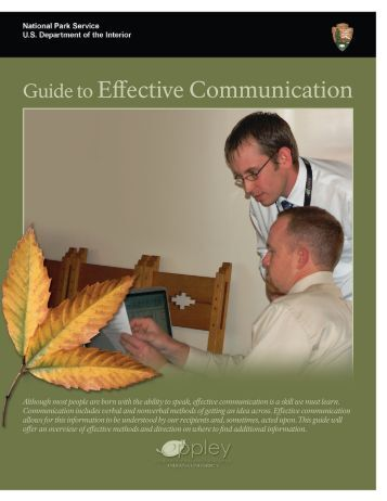 Guide to Effective Communication - National Park Service