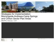 Morningside-Andrews-Camp Springs and Clinton Sector Plan Areas