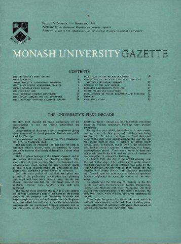 GAZETTE - Adm.monash.edu - Monash University