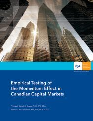 Empirical Testing of the Momentum Effect in Canadian Capital Markets
