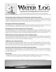 Water Log 29.1 - Mississippi-Alabama Sea Grant Legal Program