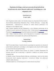 Regulamin - Ministerstwo Pracy i Polityki Społecznej