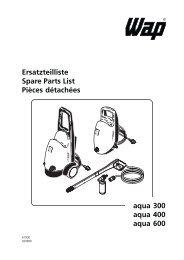 Ersatzteilliste Spare Parts List Pièces détachées aqua ... - Elektronico