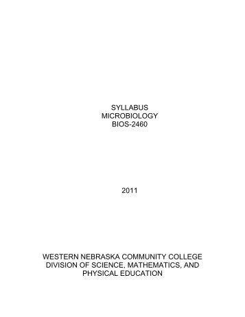 View Current Syllabus - MY WNCC Portal Login