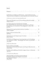 Inhaltsverzeichnis - Franz Steiner Verlag