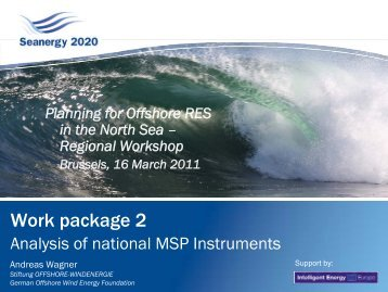 Analysis of National MSPs focusing on North Sea ... - Seanergy 2020