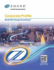 Corporate Profile - Zhone Technologies