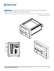 DigiTrace 920 Series Heat Trace Controller - Pentair Thermal ...