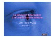 Manuale Sicurezza - Paolo PAVAN