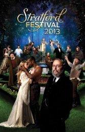 2013 Visitors' Guide - Stratford Festival