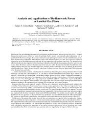 Analysis and Applications of Radiometeric Forces in Rarefied Gas ...