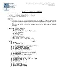 Edital do Pregão Eletrônico nº 001/2009 - Conselho Administrativo ...