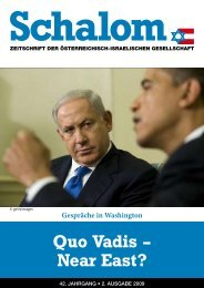 Quo Vadis – Near East? - Österreichisch-Israelische Gesellschaft