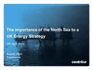Centrica plc: The importance of the North Sea to a UK Energy Strategy