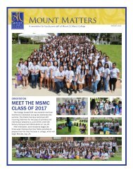 August 2013 - Mount St. Mary's College